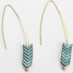 Beautifully unique earrings in Teal